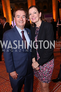 Rep. Ed Royce and Marie Royce. Photo by Tony Powell. 2017 March of Dimes Gourmet Gala. Building Museum. May 23, 2017