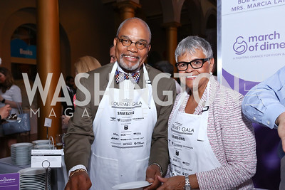 Rev. William Coleman and Rep. Bonnie Watson Coleman. Photo by Tony Powell. 2017 March of Dimes Gourmet Gala. Building Museum. May 23, 2017
