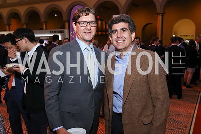 Lyndon Boozer, Matt Gerson. Photo by Tony Powell. 2017 March of Dimes Gourmet Gala. Building Museum. May 23, 2017