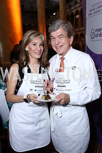 Abigail Blunt and Sen. Roy Blunt. Photo by Tony Powell. 2017 March of Dimes Gourmet Gala. Building Museum. May 23, 2017