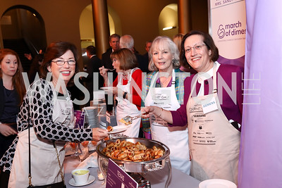 Barbara Humpton, Sandy Cornyn, Judy Marks. Photo by Tony Powell. 2017 March of Dimes Gourmet Gala. Building Museum. May 23, 2017