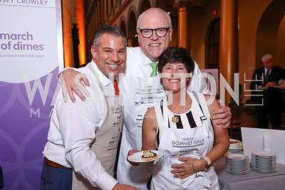 Chris Berardini, Rep. Joe Crowley and Kasey Crowley. Photo by Tony Powell. 2017 March of Dimes Gourmet Gala. Building Museum. May 23, 2017