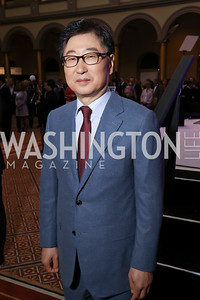 Samsung Representative BK Yoon. Photo by Tony Powell. 2017 March of Dimes Gourmet Gala. Building Museum. May 23, 2017