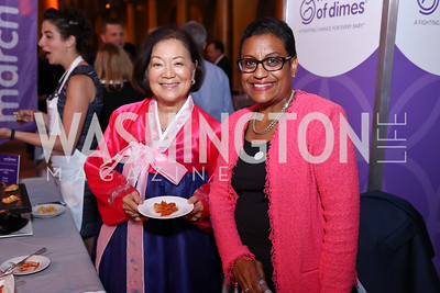Sen. Mazie Hirono, March of Dimes President Stacey Stewart. Photo by Tony Powell. 2017 March of Dimes Gourmet Gala. Building Museum. May 23, 2017