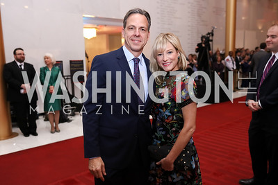 Jake and Jennifer Tapper. Photo by Tony Powell. 2017 Mark Twain Prize. Kennedy Center. October 22, 2017