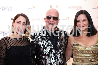 Victoria Lily Shaffer, Paul Shaffer, and Cathy Vasapoli. Photo by Tony Powell. 2017 Mark Twain Prize. Kennedy Center. October 22, 2017