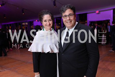 Dafna Tapiero and Alan Fleischmann. Photo by Tony Powell. 2017 Mark Twain Prize. Kennedy Center. October 22, 2017
