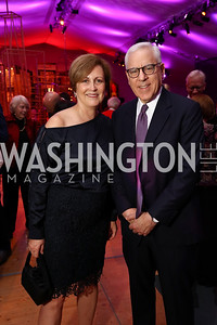 Deborah Rutter, David Rubenstein. Photo by Tony Powell. 2017 Mark Twain Prize. Kennedy Center. October 22, 2017