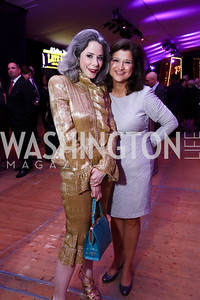 Heather Podesta, Jacquie Bloom. Photo by Tony Powell. 2017 Mark Twain Prize. Kennedy Center. October 22, 2017
