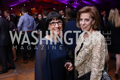 Marie Mattson, Patricia Sagon. Photo by Tony Powell. 2017 Mark Twain Prize. Kennedy Center. October 22, 2017