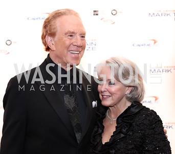 Alan Kalter and Peggy Masterson. Photo by Tony Powell. 2017 Mark Twain Prize. Kennedy Center. October 22, 2017