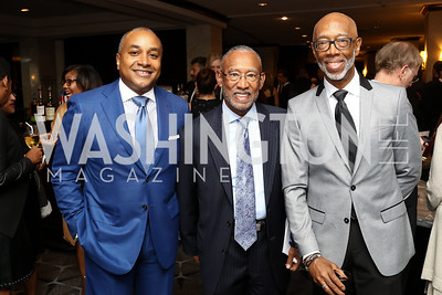 "Andrian Goodum, Pedro Alfonso, Ron Watkins. Photo by Tony Powell. 2017 Mary's Center ""Noche Tropical.""  October 6, 2017"