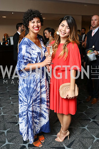 "Nicole Capo, Linh Lu. Photo by Tony Powell. 2017 Mary's Center ""Noche Tropical.""  October 6, 2017"