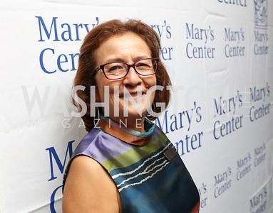 """CEO Maria Gomez. Photo by Tony Powell. 2017 Mary's Center """"Noche Tropical.""""  October 6, 2017"""