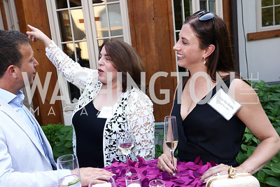 Board Members Leslie Kerman and Sylvia Garfinkle. Photo by Tony Powell. McLean Project for the Arts. Bullock Residence. May 18, 2017