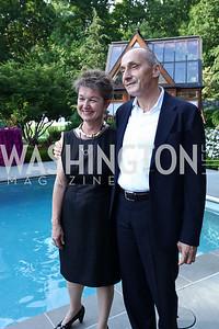 Dorothy Kosinski and Thomas Krahenbuhl. Photo by Tony Powell. McLean Project for the Arts. Bullock Residence. May 18, 2017