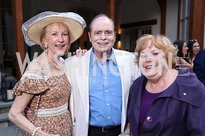 Lola Reinsch, Bill Detty, Ann Page. Photo by Tony Powell. McLean Project for the Arts. Bullock Residence. May 18, 2017
