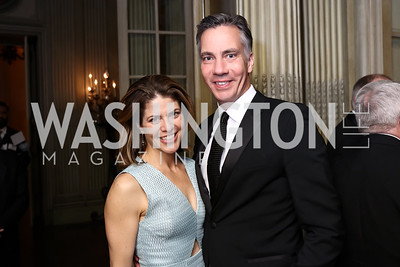 Gloria Riviera, Jim Sciutto. Photo by Tony Powell. 2017 Meridian Ball. October 20, 2017