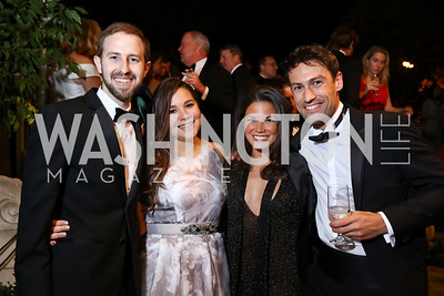 Michael Iszard, Sofia Alvarez, Karla Gonzalez, Thomas Lewis. Photo by Tony Powell. 2017 Meridian Ball. October 20, 2017