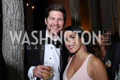 Brian Slaninka and Catherine Trifiletti. Photo by Tony Powell. 2017 Meridian Ball. October 20, 2017