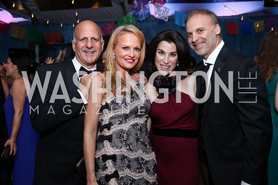 Dave and Jamie Dorros, Tracy and Adam Bernstein. Photo by Tony Powell. 2017 Meridian Ball. October 20, 2017