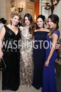 Anne Brady Perron, Alana Nolan, Caroline Harvin, Suzanne Kianpour. Photo by Tony Powell. 2017 Meridian Ball. October 20, 2017