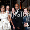 Jackie Calmes, Fred Hochberg, Denise Grant and Frank Raines, Amy Nathan and Howard Fineman. Photo by Tony Powell. 2017 Meridian Ball. October 20, 2017