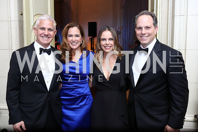 Patrick Steel and Lee Satterfield, Robyn and Jeremy Bash. Photo by Tony Powell. 2017 Meridian Ball. October 20, 2017