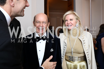 Sec. Wilbur Ross and Hilary Ross. Photo by Tony Powell. 2017 Meridian Ball. October 20, 2017