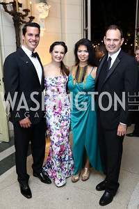 Giuseppe Lanzone, Fran Holuba, Christina Sevilla, Steve Rochlin. Photo by Tony Powell. 2017 Meridian Ball. October 20, 2017