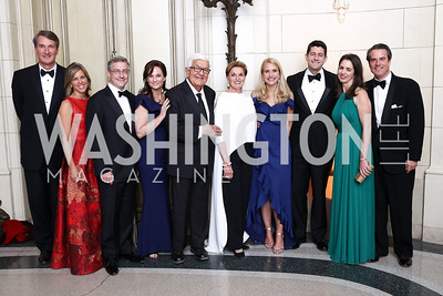 Glenn and Suzanne Youngkin, Andy and Heather Florance, Amb. Tom and Sec. Ann Korologos, Jana and Speaker Paul Ryan, Gwen and Stuart Holliday. Photo by Tony Powell. 2017 Meridian Ball. October 20, 2017