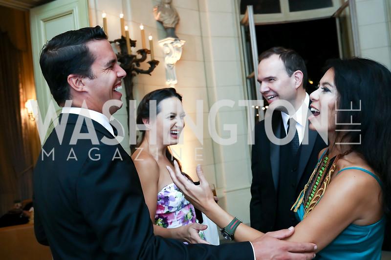 Giuseppe Lanzone, Fran Holuba, Christina Sevilla, Steve Rochlin. Photo by Tony Powell. 2017 Meridian Ball. October 20, 2017