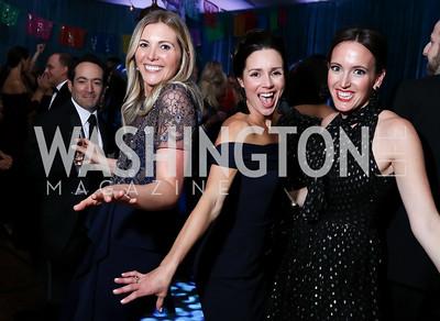 Virginia Boney, Caroline Harvin, Lindsay Walters. Photo by Tony Powell. 2017 Meridian Ball. October 20, 2017