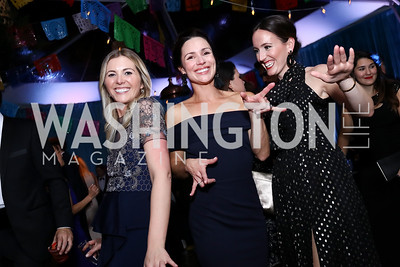 Virginia Boney, Caroline Harvin, Lindsay Walters. Photo by Tony Powell. 2017 Meridian Ball. October 20, 2017