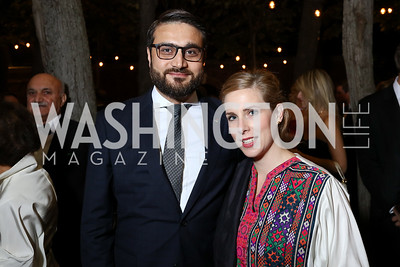 Afghanistan Amb. Hamdullah Mohib and Lael Mohib. Photo by Tony Powell. 2017 Meridian Ball. October 20, 2017