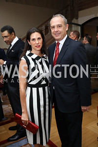 Veronica Valencia and Arturo Sarukhan. Photo by Tony Powell. 2017 Michelin Guide. Residence of France. October 17, 2017