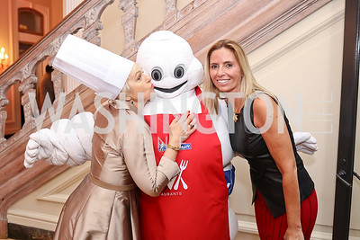 Francesca Craig, The Michelin Man, Maria Trabocchi. Photo by Tony Powell. 2017 Michelin Guide. Residence of France. October 17, 2017
