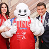 Amy Baier, The Michelin Man, Bret Baier. Photo by Tony Powell. 2017 Michelin Guide. Residence of France. October 17, 2017