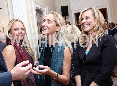 Marguerite Thompson, Kat Cusani Visconti, Pamela Brown. Photo by Tony Powell. 2017 Michelin Guide. Residence of France. October 17, 2017
