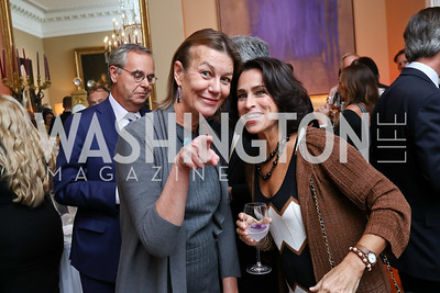 Tamera Luzzatto, Susan Toffler. Photo by Tony Powell. 2017 Michelin Guide. Residence of France. October 17, 2017