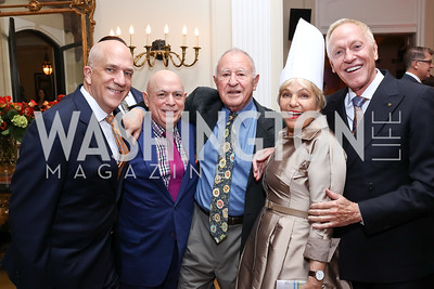 Michael Widomski, David Hagedorn, Mark Furstenberg, Francesca Craig, Patrick O'Connell. Photo by Tony Powell. 2017 Michelin Guide. Residence of France. October 17, 2017