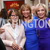 Margaret Carlson, Barbara Harrison, Andrea Mitchell. Photo by Tony Powell. 2017 Michelin Guide. Residence of France. October 17, 2017