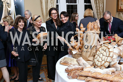 Didi Cutler, Evelyn DiBona, Aniko Gaal Schott, Grace Bender. Photo by Tony Powell. 2017 Michelin Guide. Residence of France. October 17, 2017