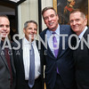 Alex Levin, Steve Elmendorf, Sen. Mark Warner, Jeff Carneal. Photo by Tony Powell. 2017 Michelin Guide. Residence of France. October 17, 2017