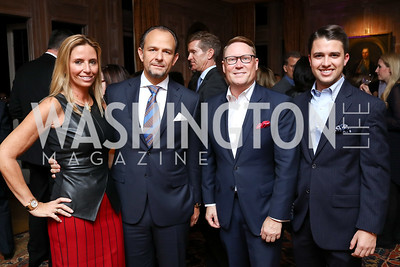 Maria and Fabio Trabocchi, Timothy Lowery and Michael Zingali. Photo by Tony Powell. 2017 Michelin Guide. Residence of France. October 17, 2017