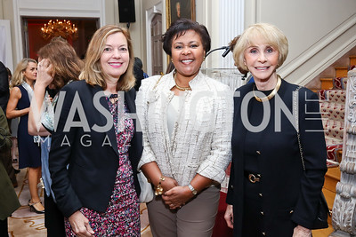 Marie Royce, Michelin VP Sheryl Wilkerson, Jan Cousteau. Photo by Tony Powell. 2017 Michelin Guide. Residence of France. October 17, 2017