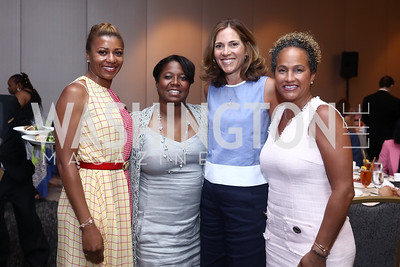 Sela Collins, Monica Thompson, Hillary Baltimore, Erika Martin. Photo by Tony Powell. 2017 N Street Village Luncheon. June 15, 2017
