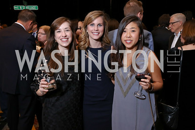 Hannah Berl, Stephanie Ward, Jennifer Lee. Photo by Tony Powell. 2017 N Street Village Gala. Marriott Marquis. March 14, 2017