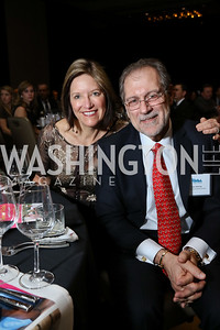 Gala Co-Chairs Sandra and Tom McCoy. Photo by Tony Powell. 2017 N Street Village Gala. Marriott Marquis. March 14, 2017