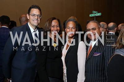 Andrew and Kelly Dibble, Erica and Scott Bolden. Photo by Tony Powell. 2017 N Street Village Gala. Marriott Marquis. March 14, 2017